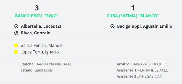 BANCO ROJO VS CUBA
